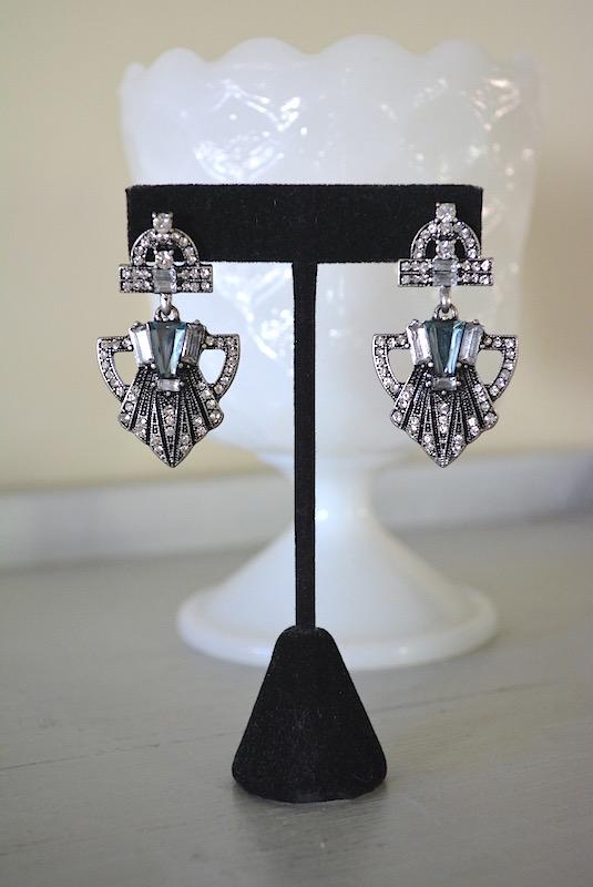 Art Deco Earrings, Flapper Earrings, 1920s Jewelry