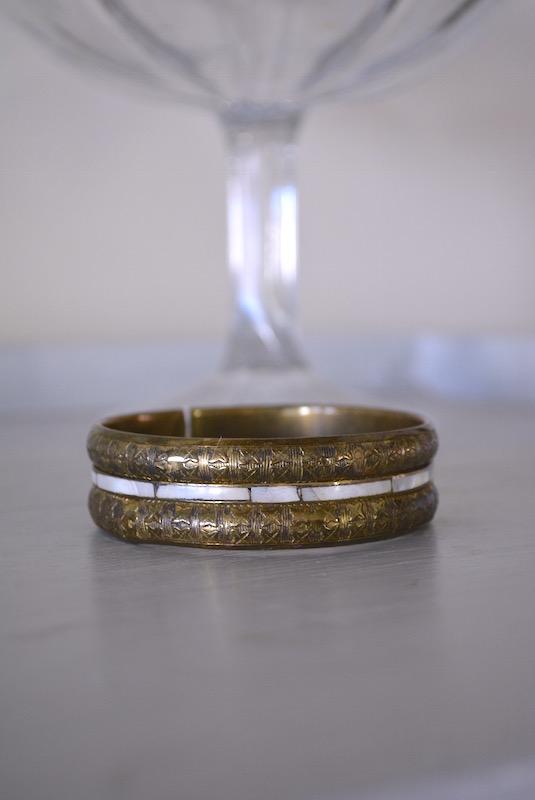 Brass Bangle Bracelet, Vintage Bracelet, Brass Bracelet, 1980s Jewelry, Brass Bracelet