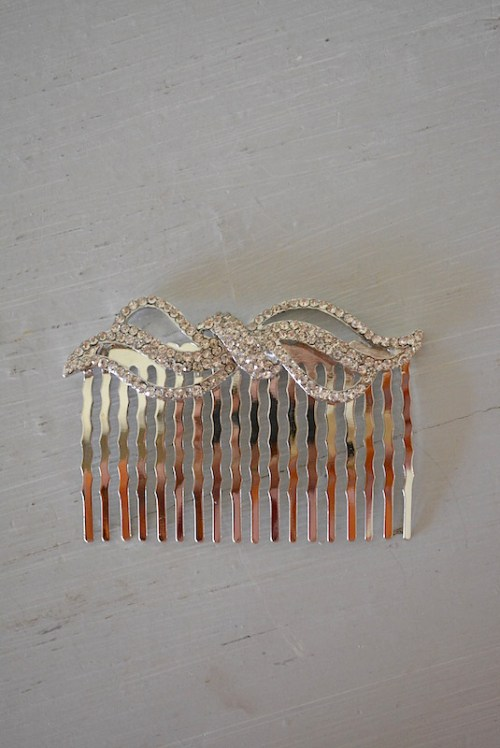 Rhinestone Bow Comb, Bow Comb, Hair Combs, Hair Bow