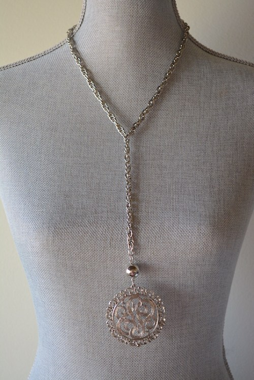 Silver Medallion Necklace, Vintage Silver Necklace, Vintage Necklace