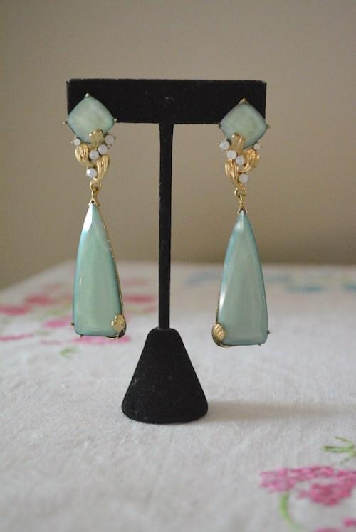 Sage Chandelier Earrings, Sage Earrings, Green Earrings, Chandelier Earrings