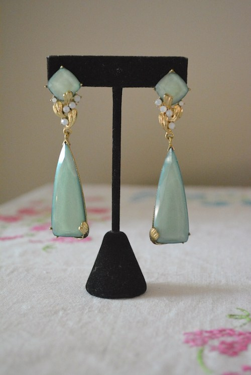 Sage Chandelier Earrings, Sage Earrings, Green Earrings, Chandelier Earrings
