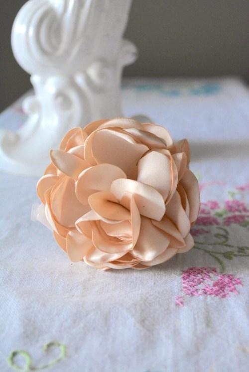 Fabric Flower Bracelet, Flower Bracelet, Pink Flower Bracelet, Flower Jewelry, Fabric Flower Jewelry