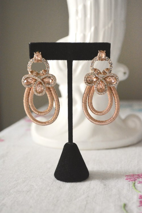 Rose Gold Teardrop Earrings, Rose Gold Earrings, Teardrop Earrings, Bride, Wedding, Formal Earrings