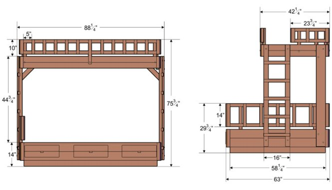 Bunk Bed Height Standards Image With Dimensions