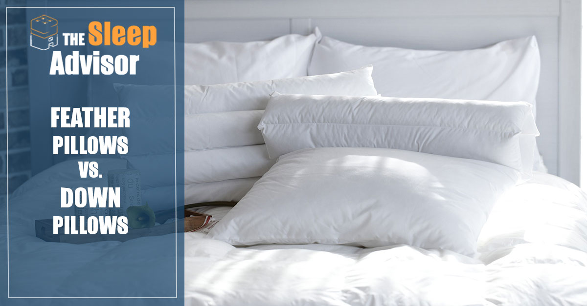 down vs feather pillows what are