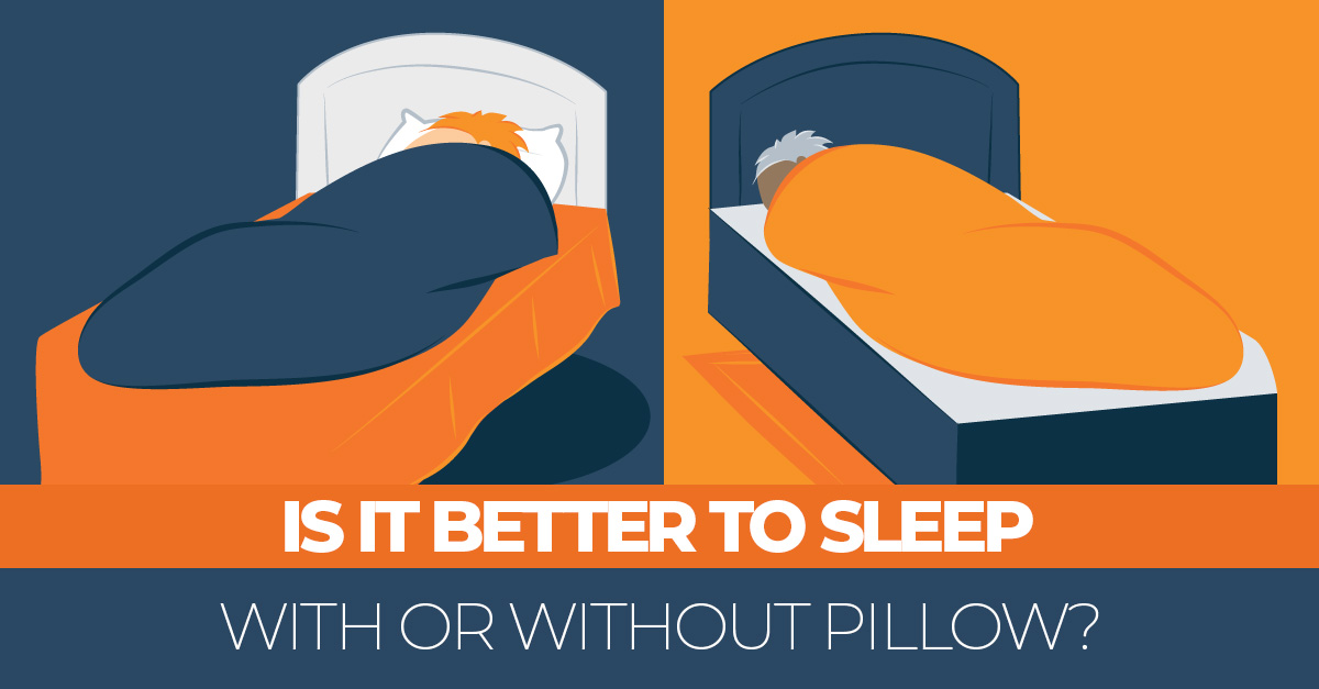 sleeping without a pillow better for