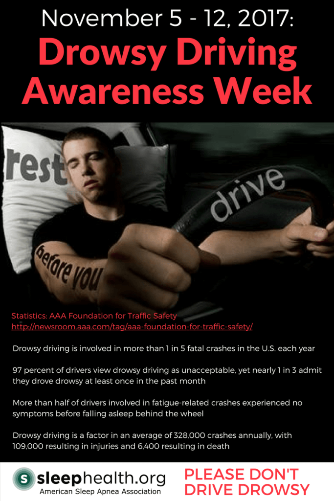 AAA please don't drive drowsy driving awareness week asaa american sleep apnea association