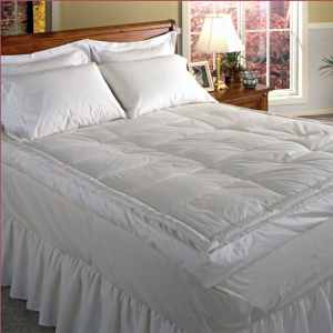 Blue Ridge Home Fashion Luxury 5 Down Pillowtop Featherbed – Best Down Mattress Topper