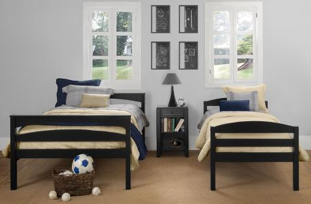 Dorel Living Brady Twin over Full Solid Wood Kid's Bunk Bed