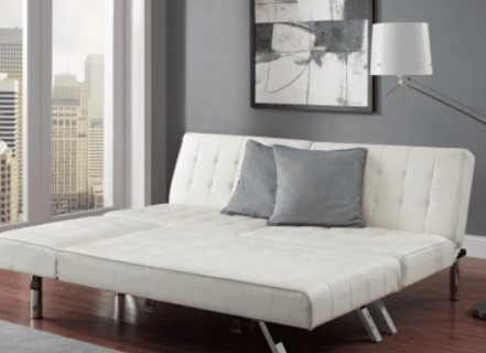 Modern Sofa Bed Sleeper Faux Leather Convertible Sofa
