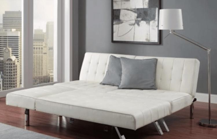 Modern Sofa Bed Sleeper Faux Leather Convertible Sofa