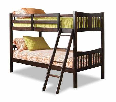 Storkcraft Caribou Solid Hardwood Twin Bunk Bed