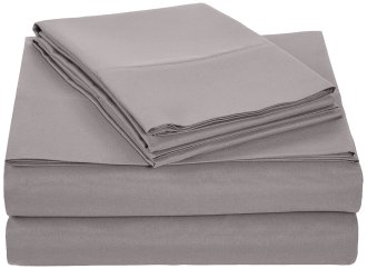 AmazonBasics Queen Dark Grey Microfiber Sheet Set