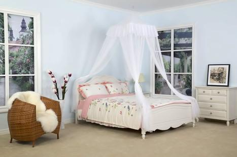 DreamMa White Square Top Canopy Bed
