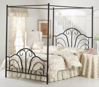 Hillsdale Furniture 348BKPR Dover Canopy Bed Set
