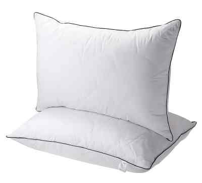 Sable Super Soft Plush Fiber Fill Adjustable Loft Neck Pain Relief Hypoallergenic Pillow