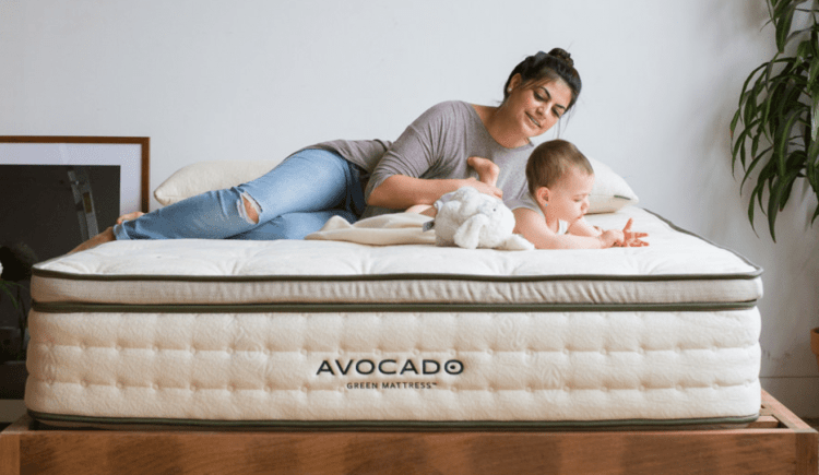 Avocado Green Mattress with baby