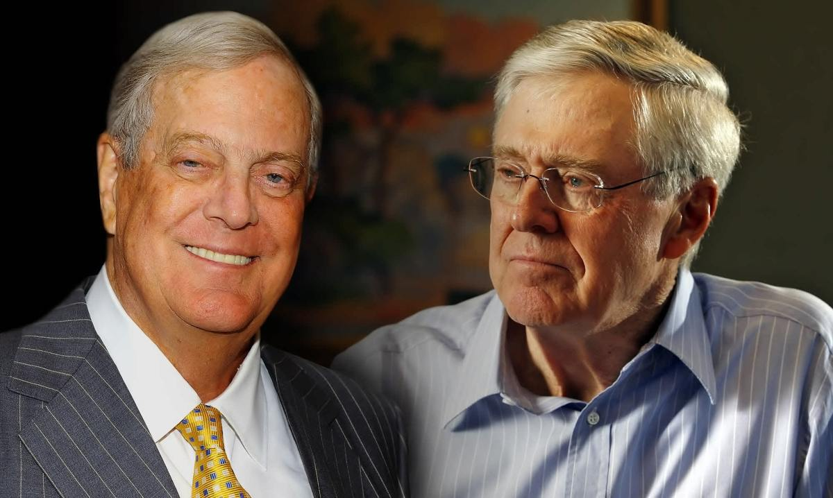 Charles and David Koch the CEO, co-owner, and chairman of Koch Industries