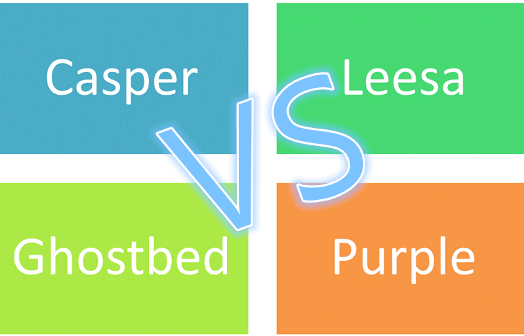 CASPER VS. LEESA VS. GHOSTBED VS. PURPLE