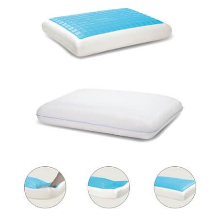 spine align gel tech memory foam pillow