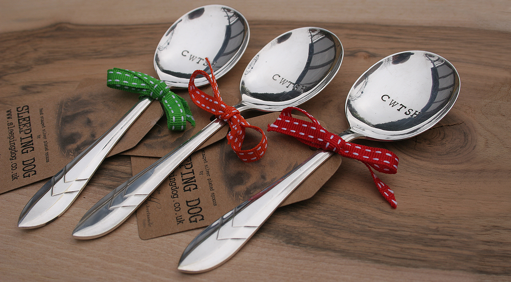 Hand Stamped Vintage Silver Plated Spoons