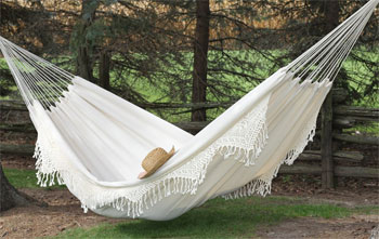 3 Steps to Choosing an Indoor Hammock Bed White Double Hammock with Fringe