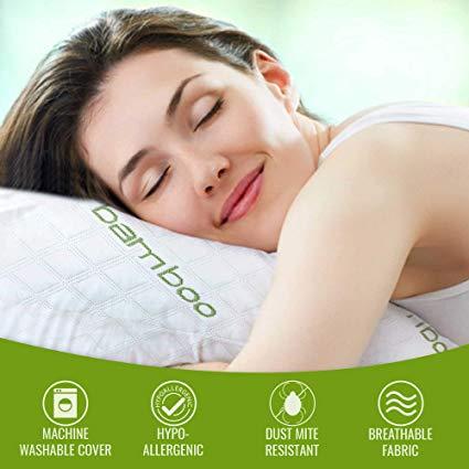 buy ik queen bamboo memory foam pillow