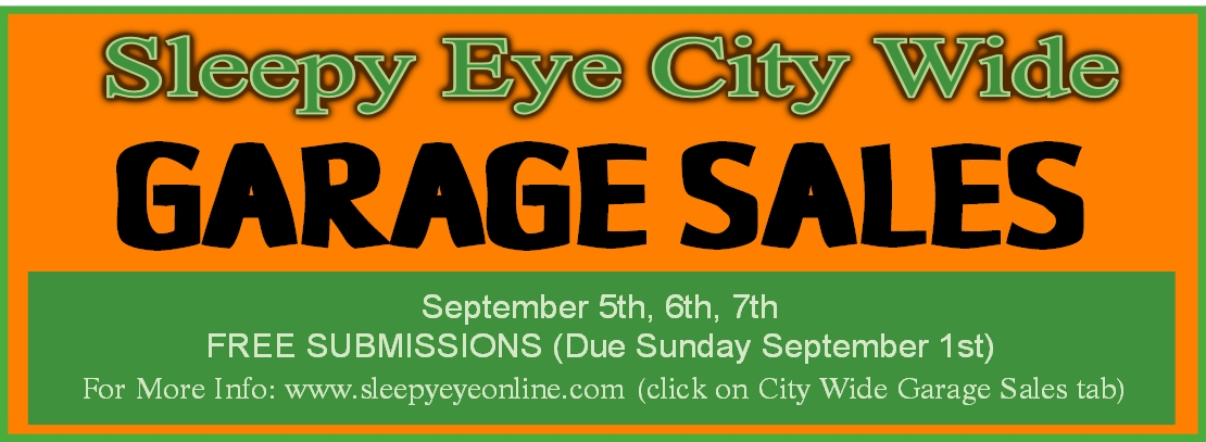 Sleepy Eye City Wide Garage Sales | Sleepy Eye ONLINE