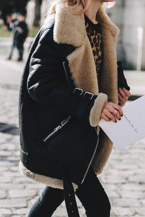 Manteau en peau lainé