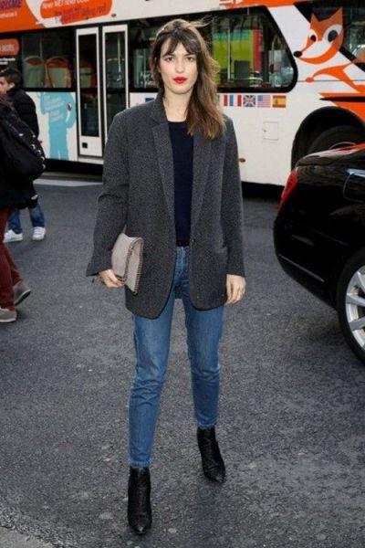 Jeans droit avec bottines