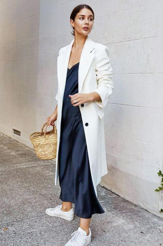 Comment porter les baskets ? - Sleepy Kate Porter les baskets avec une jupe ou robe  #style