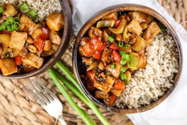 Healthy Kung Pao Chicken for dinner in this week