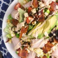 Southwestern Turkey BLTA Salad - Slender Kitchen