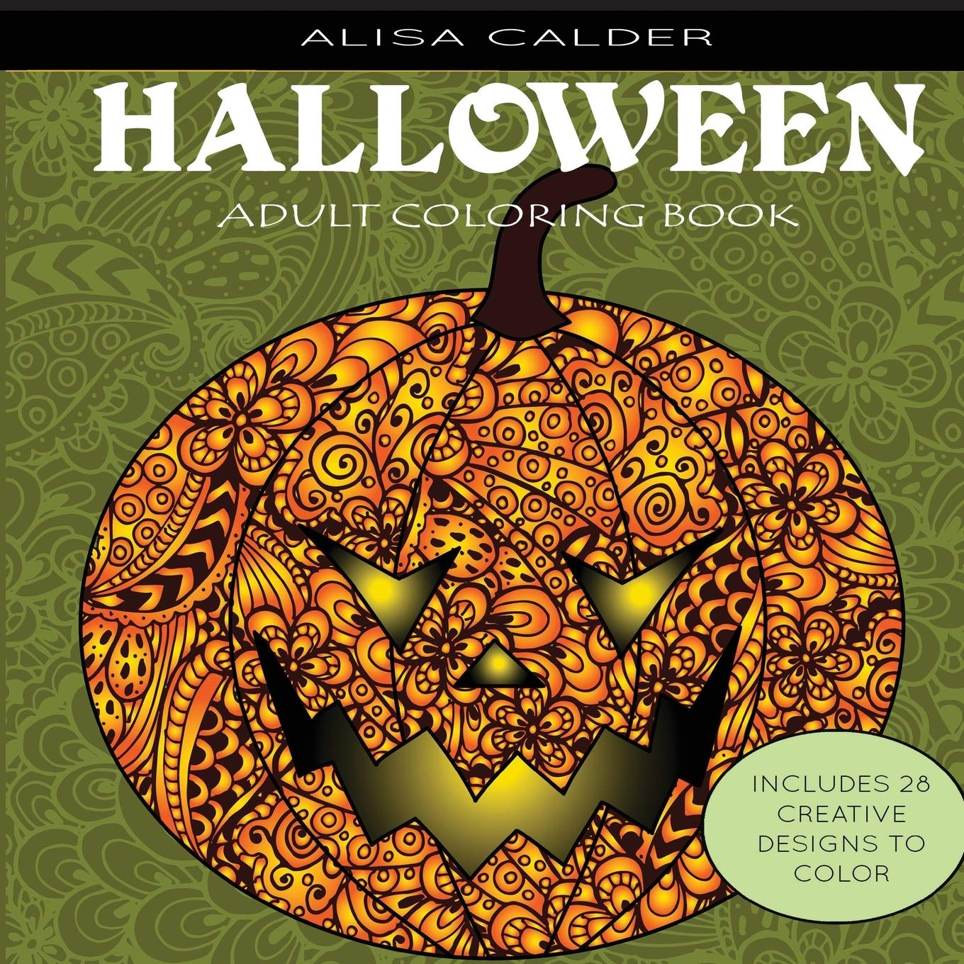 Halloween Designs Adult Coloring Book