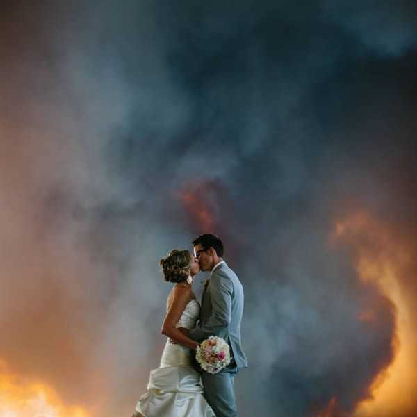 The fire that stopped a wedding