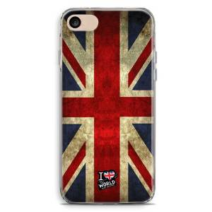 Cover smartphone con bandiera inglese vintage