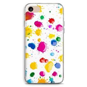 Cover smartphone con macchie di pittura colorate artistiche