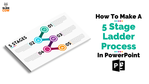 How To Make A 5 Stage Ladder Process In PowerPoint