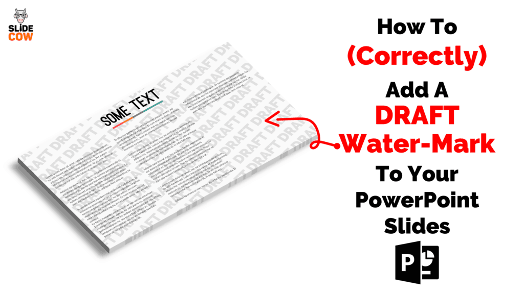 How To (Correctly) Add a DRAFT Watermark to Your PowerPoint Slides