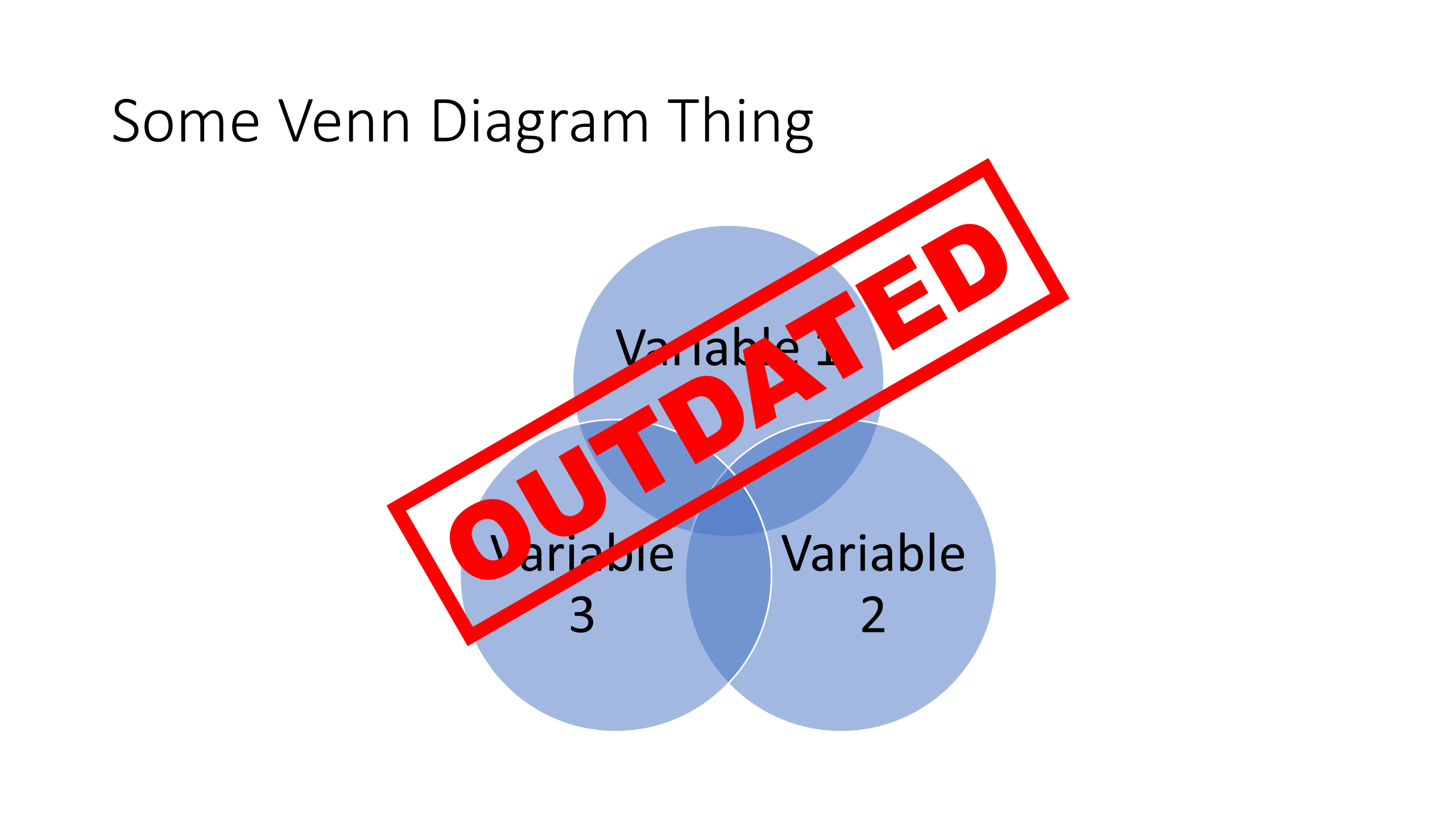 Heres how to make a stunning venn diagram in powerpoint venn diagram via powerpoint smartart with outdated stamp pooptronica