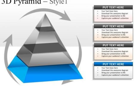 Free Example Letter D Pyramid Powerpoint Template Download
