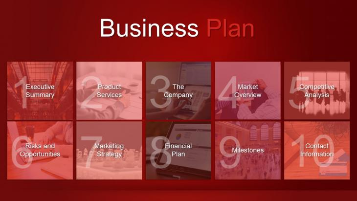 PowerPoint Business Plan Template   Slide in a Box Business Plan Template  Part   SIAB BPT 04RD  Slide01 SIAB BPT 04RD