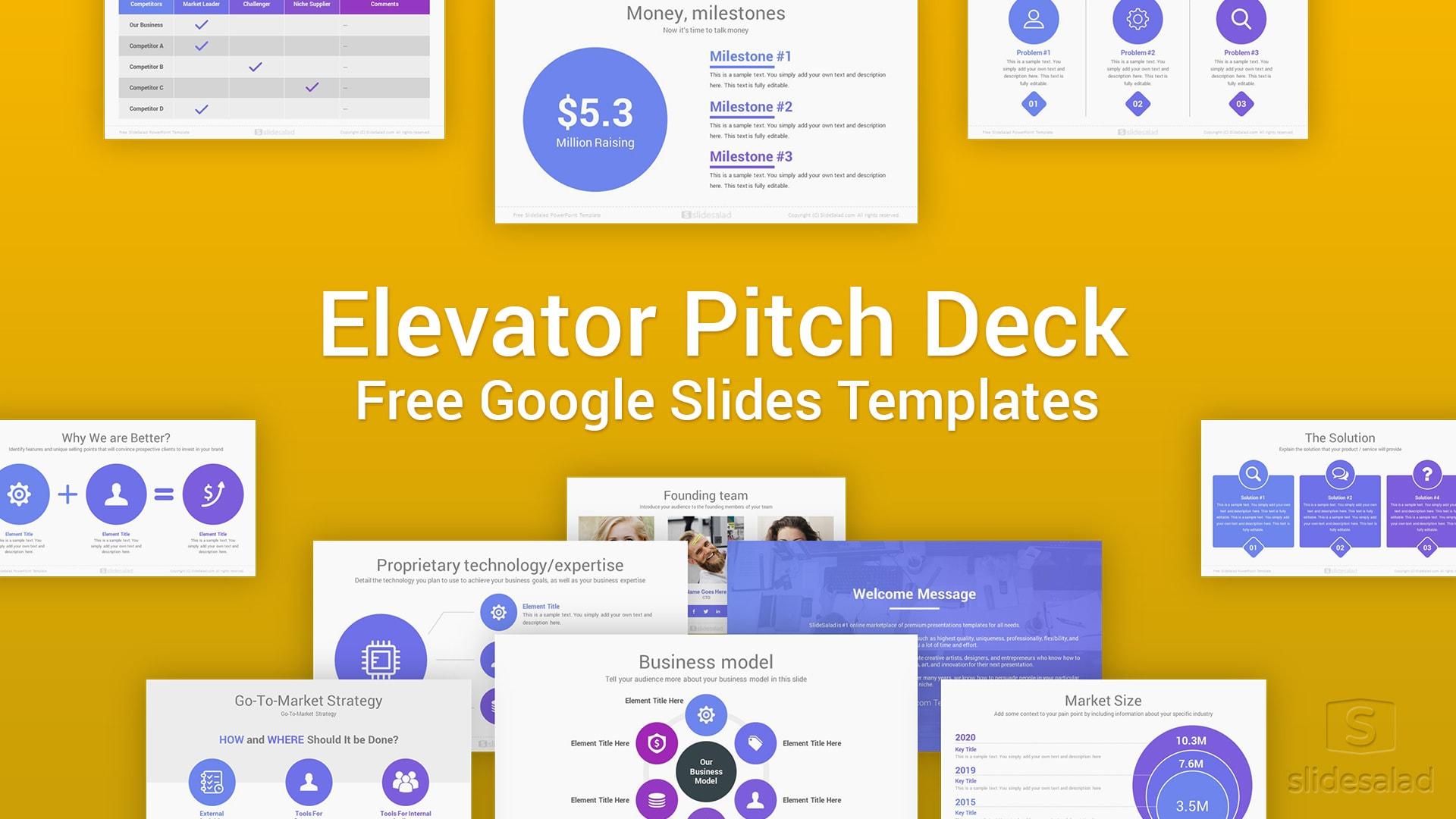Elevator Free Pitch Deck Google Slides Template Slidesalad