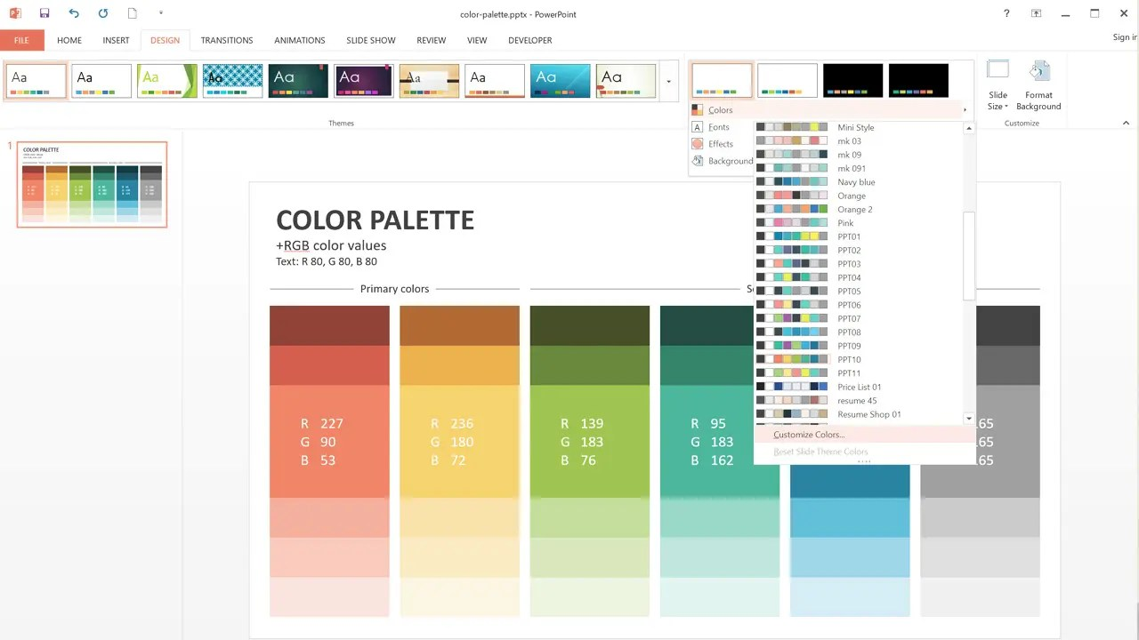Color In A Ppt Presentation Pictures To Pin On Pinterest