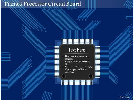 0814 Printed Processor Circuit Board Engineering Production Of Microelectronics Ppt Slides