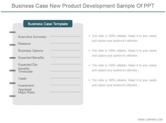 Business Case New Product Development Sample Of Ppt PowerPoint Templates Backgrounds