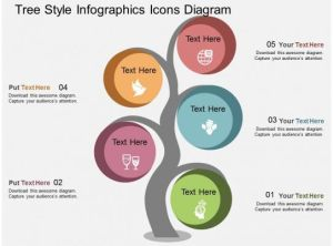 db Tree Style Infographics Icons Diagram Flat Powerpoint