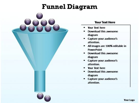 Funnel Diagram Editable Powerpoint Slides Templates
