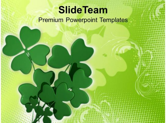 Happy St Patricks Day Shamrock With Abstract Background Of Templates Ppt Backgrounds For Slides